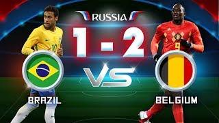Brazil vs Bỉ 1 - 2 | Cháy Cùng WORLD CUP 2018 - Hùng Thuận, Ngọc Tiên