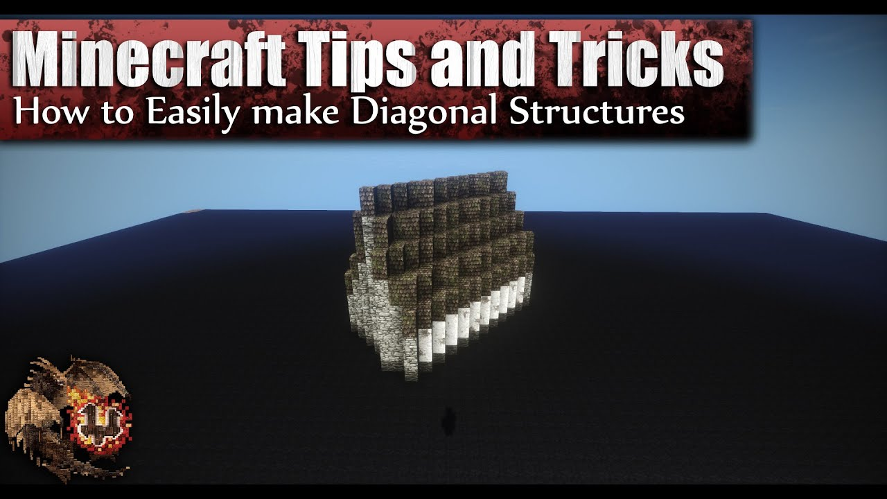 Minecraft: How to Easily Make Diagonal Structures