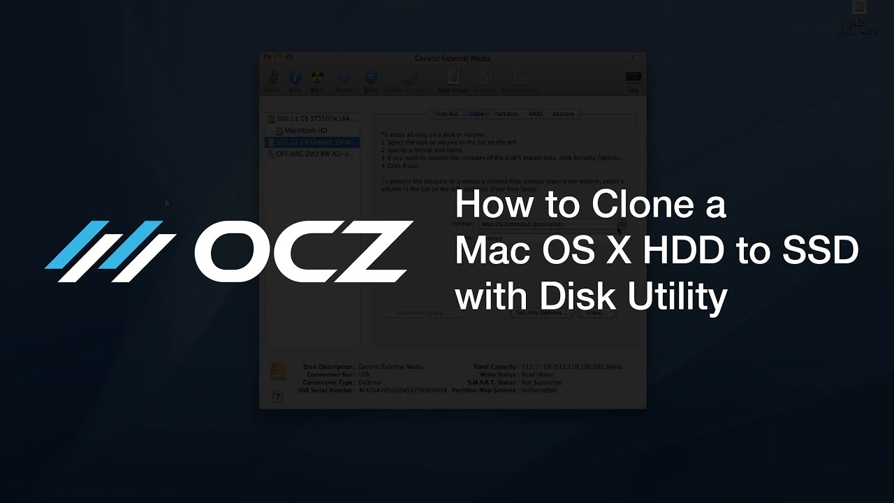 How to Clone a Mac OS X HDD to SSD with Disk Utility