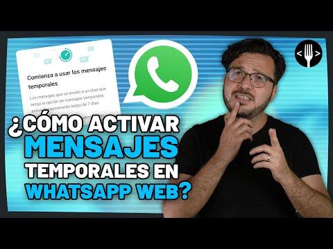 Activa los mensajes temporales de WhatsApp Web de esta forma   Servicio de la comunidad