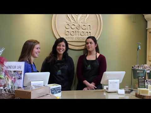 Interview at Ocean Bottom Soap Company in Tecumseh.