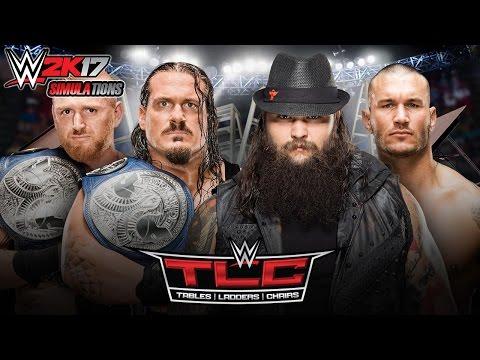 WWE 2K17 - TLC 2016: Rhyno & Heath Slater vs Wyatt Family