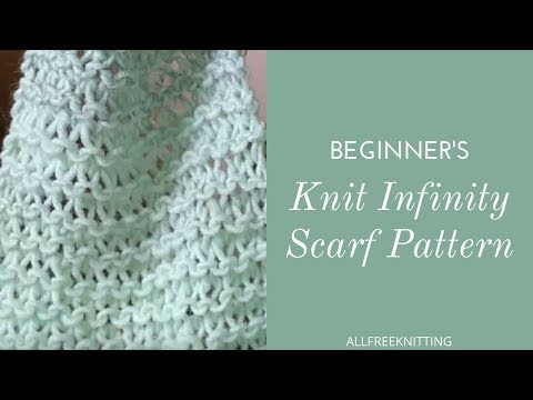 Beginner S Knit Infinity Scarf Tutorial Youtube