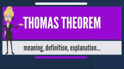 What is THOMAS THEOREM? What does THOMAS THEOREM mean? THOMAS THEOREM meaning & explanation
