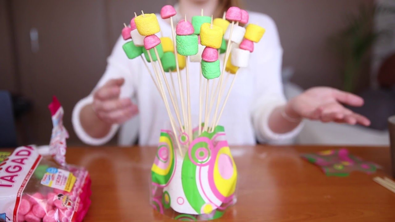Vase d co tuto bonbons youtube - Comment faire des chamallow ...