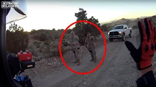 3 Intimidating Camo Dude Encounters Caught on Video at Area 51...