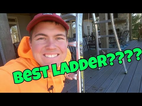22' Gorilla Ladder (MPX22W) Gutter cleaning