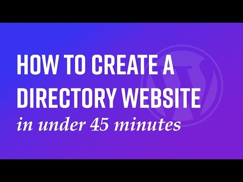 How To Create A Directory Website