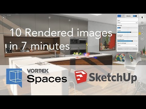 10 Photorealistic Renders from SketchUp Project in Less Than 7 minutes with VORTEK Spaces
