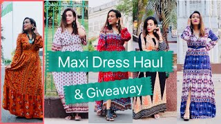 Shein Best Maxi Dresses 2019 Haul with giveaway for you !!!
