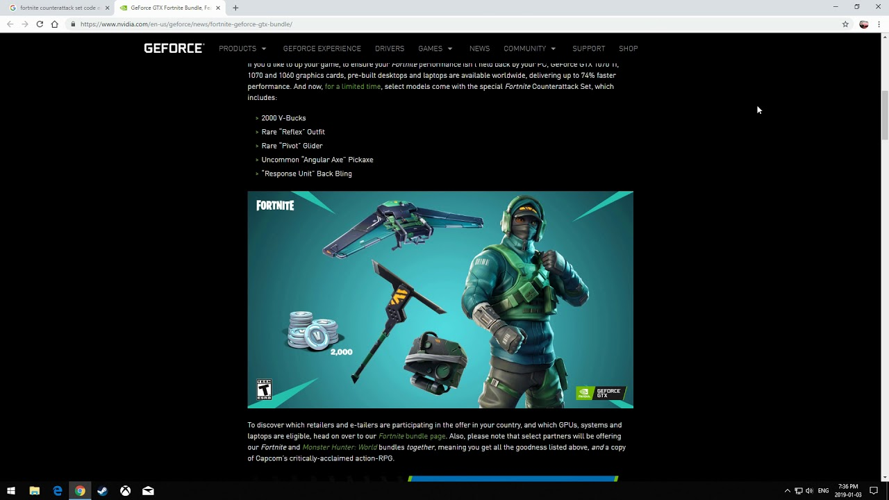 Free Fortnite Counterattack Set Giveaway (Instructions In The Video)