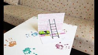 basit 3d merdiven çizimi yap (how to draw 3d stairs)#3d ilizyon çizimler-3#