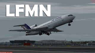 Prepar3D - CaptainSim 727-200  ILS landing LFMN
