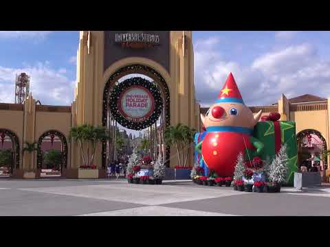 Universal Orlando Resort 2017 Christmas and Holiday Decorations Islands of Adventure Studios