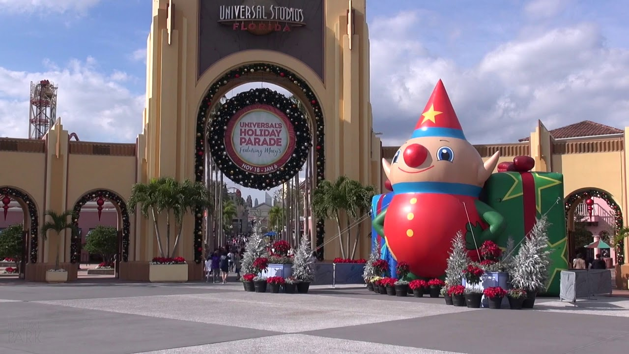 Christmas At Universal Studios Orlando.Universal Orlando Resort 2017 Christmas And Holiday Decorations Islands Of Adventure Studios