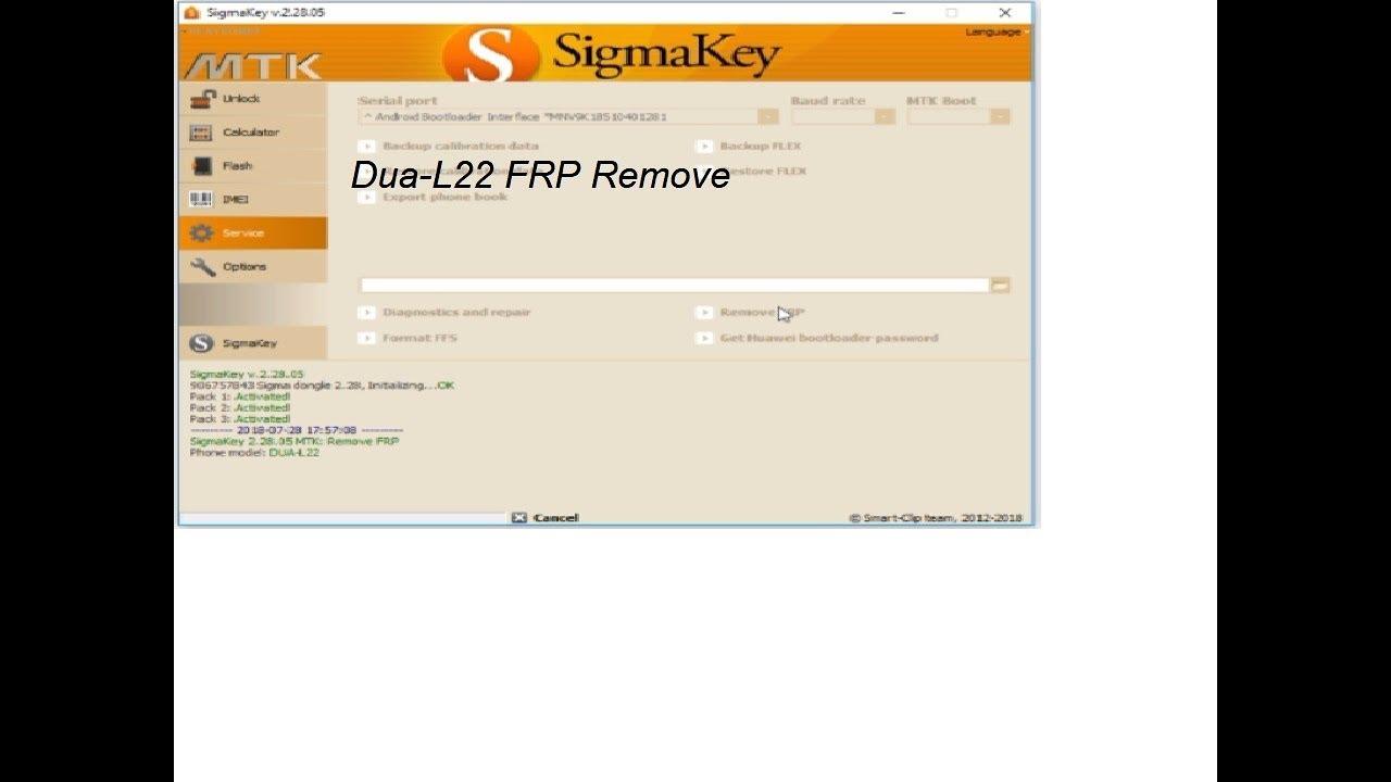 Honor 7s Dua-L22 FRP remove