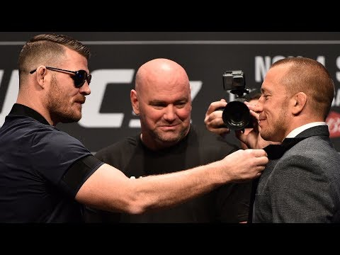 (FULL) UFC 217 News Conference with Michael Bisping vs. Georges St-Pierre | ESPN