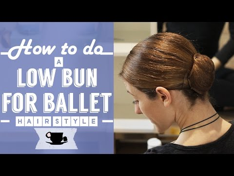 How To Do A Low Bun Hair Style For Ballet | Lazy Dancer Tips