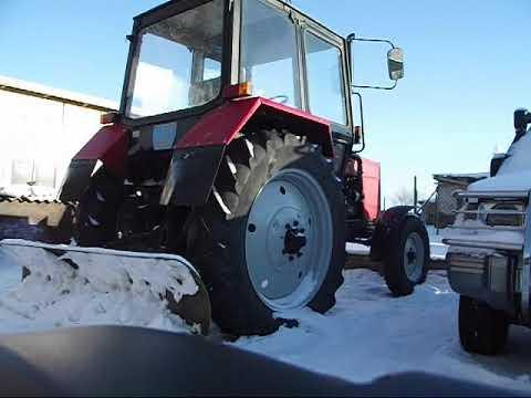 Стартер без замены плиты и маховика на трактор мтз (Запуск зимой)