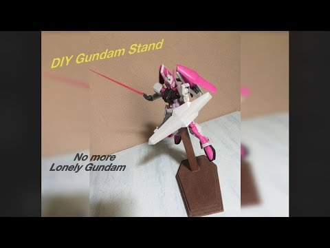 Gundam stand using cardboard & popsicle sticks (Do It Yourself)
