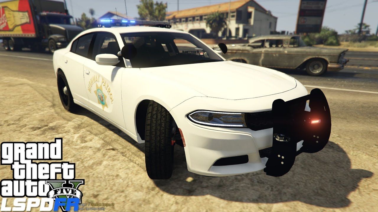 GTA 5 LSPDFR Police Mod 112 | California Highway Patrol | CHP Dodge Charger  | Automatic Plate Reader by Acepilot2k7