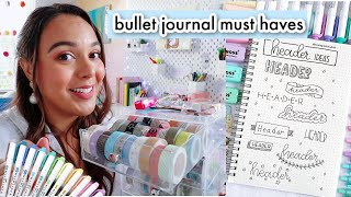 my bullet journal must haves for 2021! aesthetic stationery you need! (vlogmas day 20)