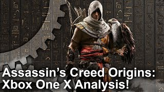 [4K] Assassin's Creed Origins Xbox One X vs PS4 Pro vs PC Graphics Comparison + Frame-Rate Test