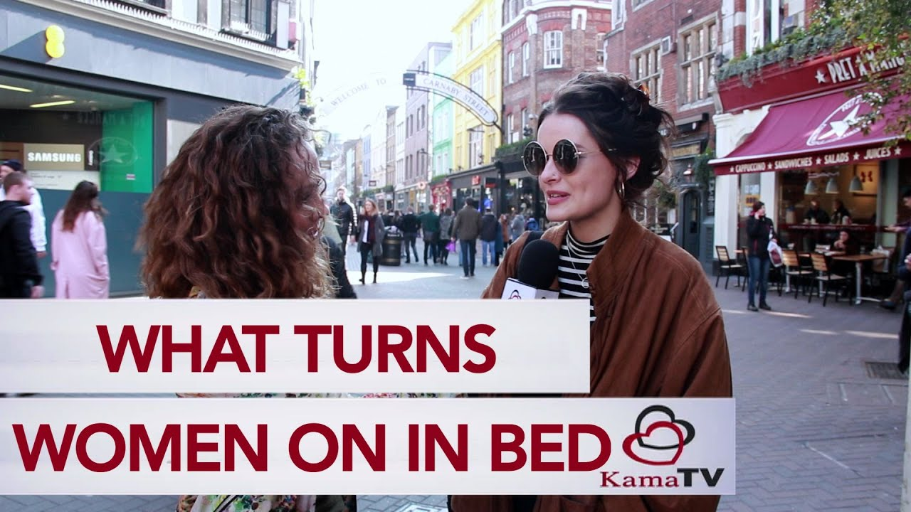 What turns a woman on in bed