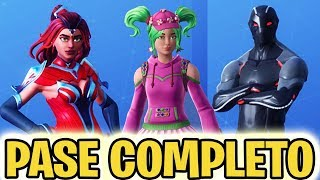 NUEVO *PASE DE BATALLA 4* COMPLETO *SKINS TEMPORADA 4* - FORTNITE Battle Royale
