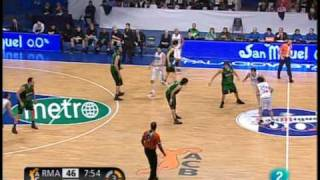 Baloncesto ACB Real Madrid vs DKV Juventud, 10 minutos con 2.5 min de cada cuarto