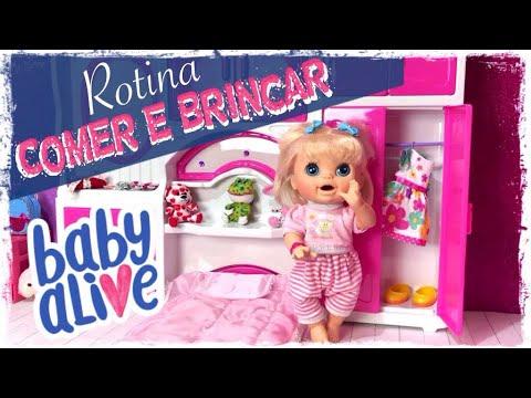 QUARTINHO DA NOVA BABY ALIVE COMER E BRINCAR PETER TOYS
