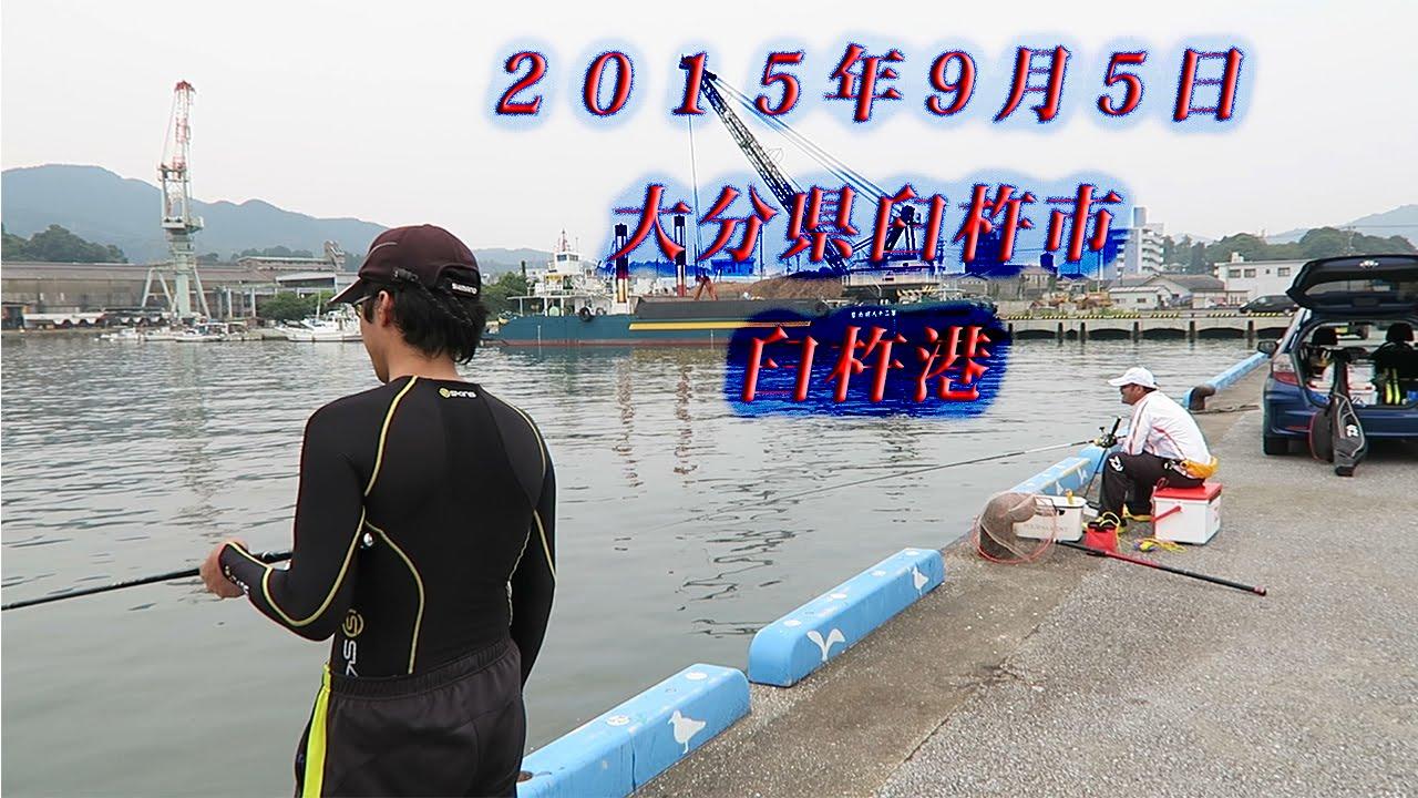 2015年9月5日 大分県臼杵市 臼杵港 チヌ釣り ボツネタ! - YouTube