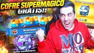 ABRO COFRE LEGENDARIO Y ME TOCA UN SUPERMAGICO GRATIS!! | Clash Royale | Rubinho vlc