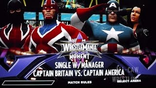All-CAW Wrestling World Cup: Round 2 - Captain Britain (England) vs Captain America (USA)