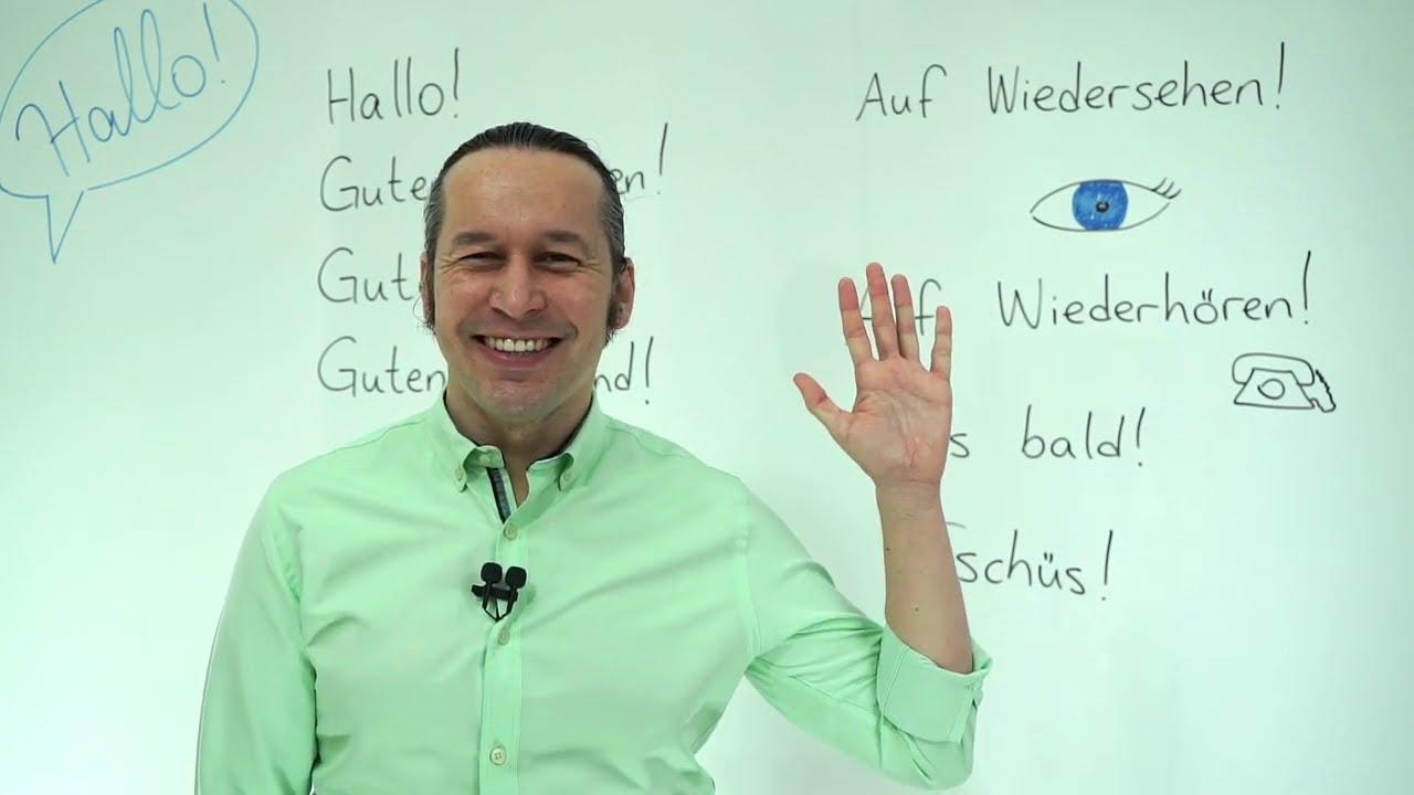 Almanca Temel A1/A2 Ders - 1 Almanca Selamlaşma, Vedalaşma, Tanışma Kalıpları | Merhaba Almanca