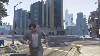 Grand Theft Auto V #10 руфер в смокинге