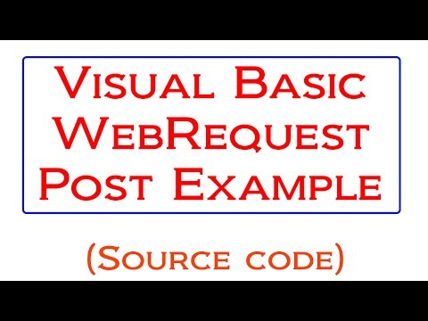 Visual Basic WebRequest HTTP Post Tutorial - YouTube