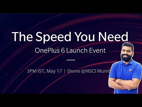 OnePlus 6 India Launch Event