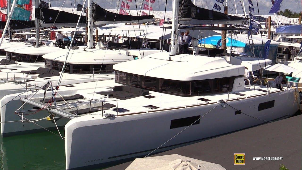 2019 Lagoon 52F Sail Catamaran - Deck and Interior Walkthrough - 2019 Miami  Boat Show