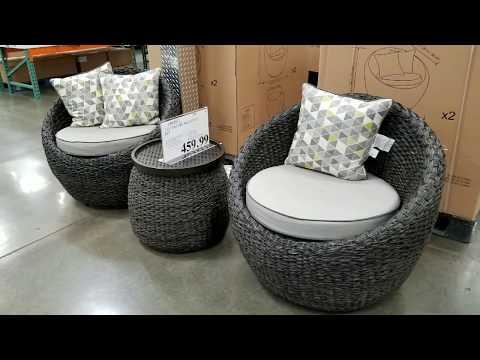 Costco! 3 Piece Modern Patio Balcony Set w/ 2 Swivel Chairs and 1 Table - $459!!!