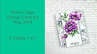 Simon Says Stamp May 2019 Card Kit/ 5 Cards, 1 Kit