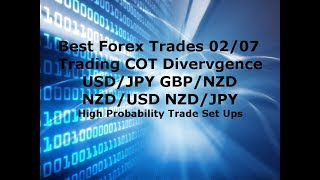 Forex Trading - Best Trades Using COT Divergence  4 Trades 300 - 1000 Pip Profit Potential