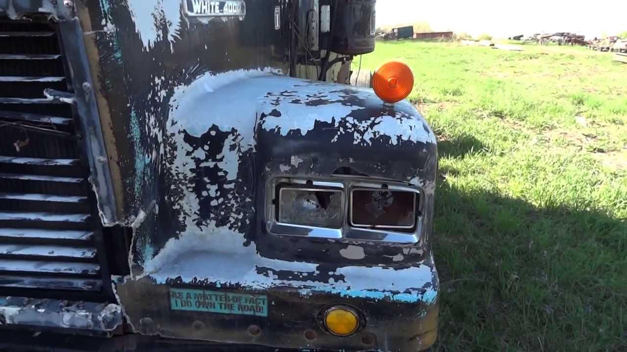 White Motor Trucks - Junk Yard Finds - YouTube