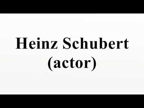 Heinz Schubert (actor)