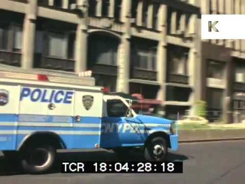 Mid 1990s New York Courthouse and Cops