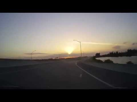 Driving on I75 from Broward to Collier County during an amazing sunset