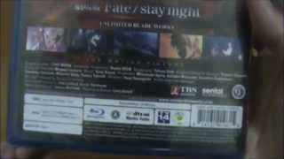 Fate/Stay Night DVD, Fate/Zero DVD+Blu-ray, and UBW movie unboxing