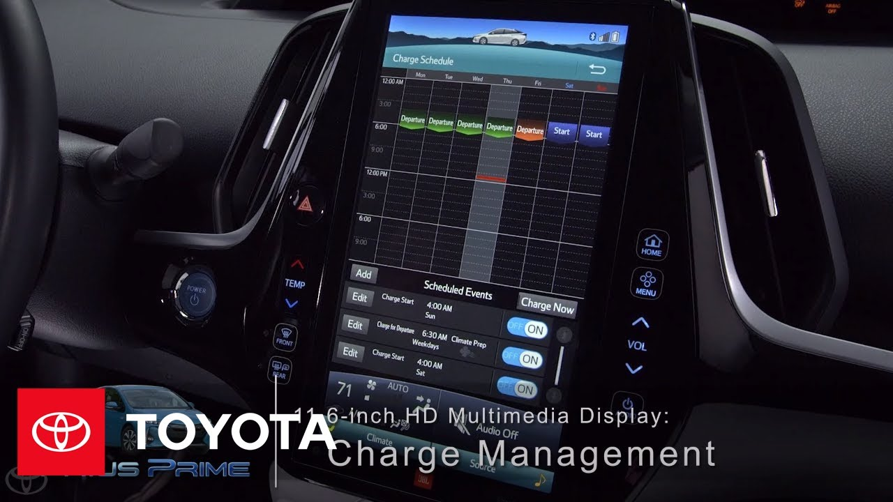 Toyota How To Prius Prime Charge Management 11 6 Inch Hd Multimedia Display