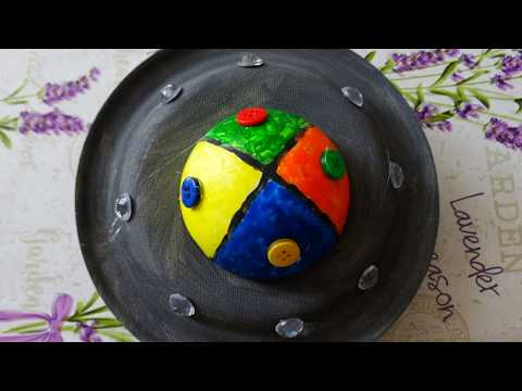 Plate craft for kids.How to make an UFO.