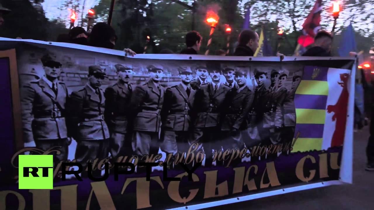 Download Ukraine: Far-right activists mark 73rd anniversary of Ukrainian SS division